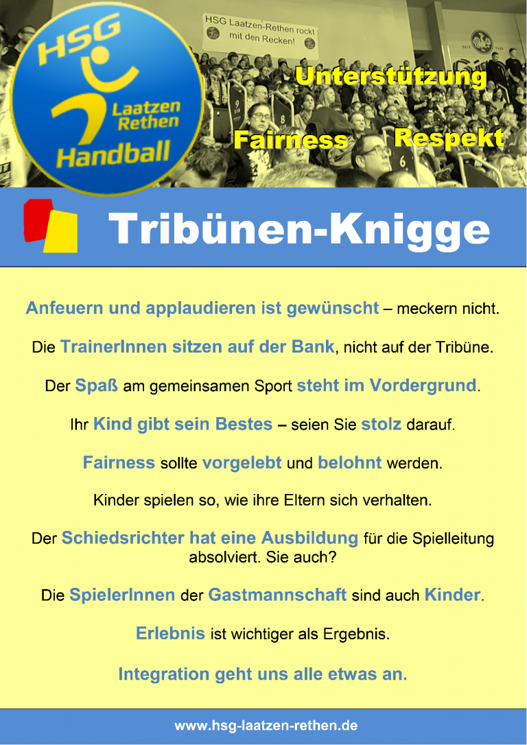 Tribünen-Knigge